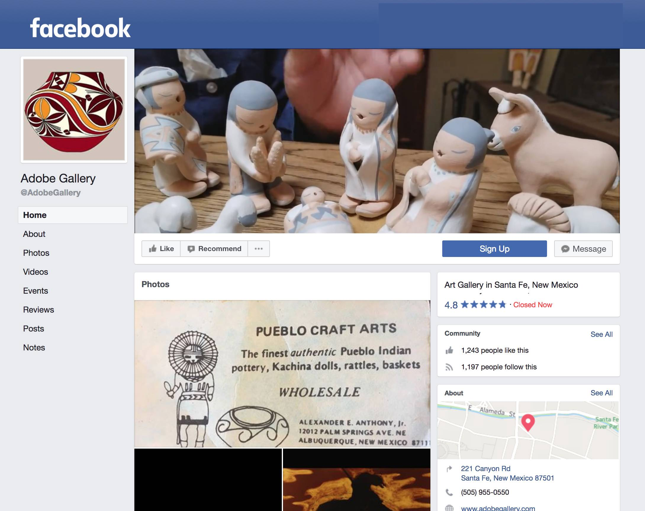 Custom Art Gallery Facebook page with Video