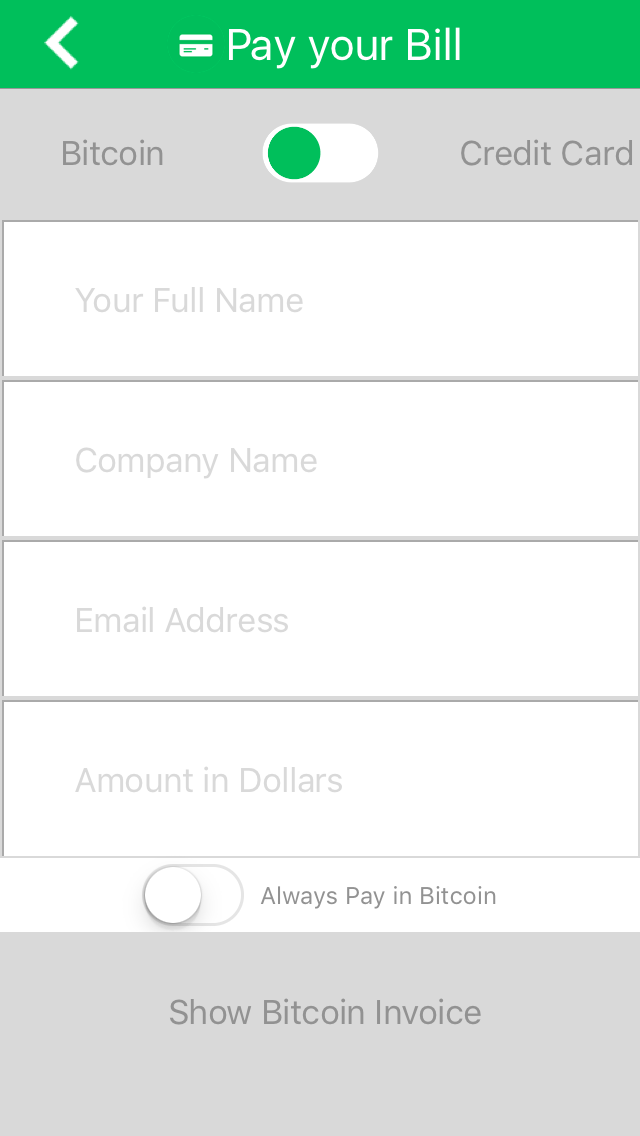 Pay App Screen