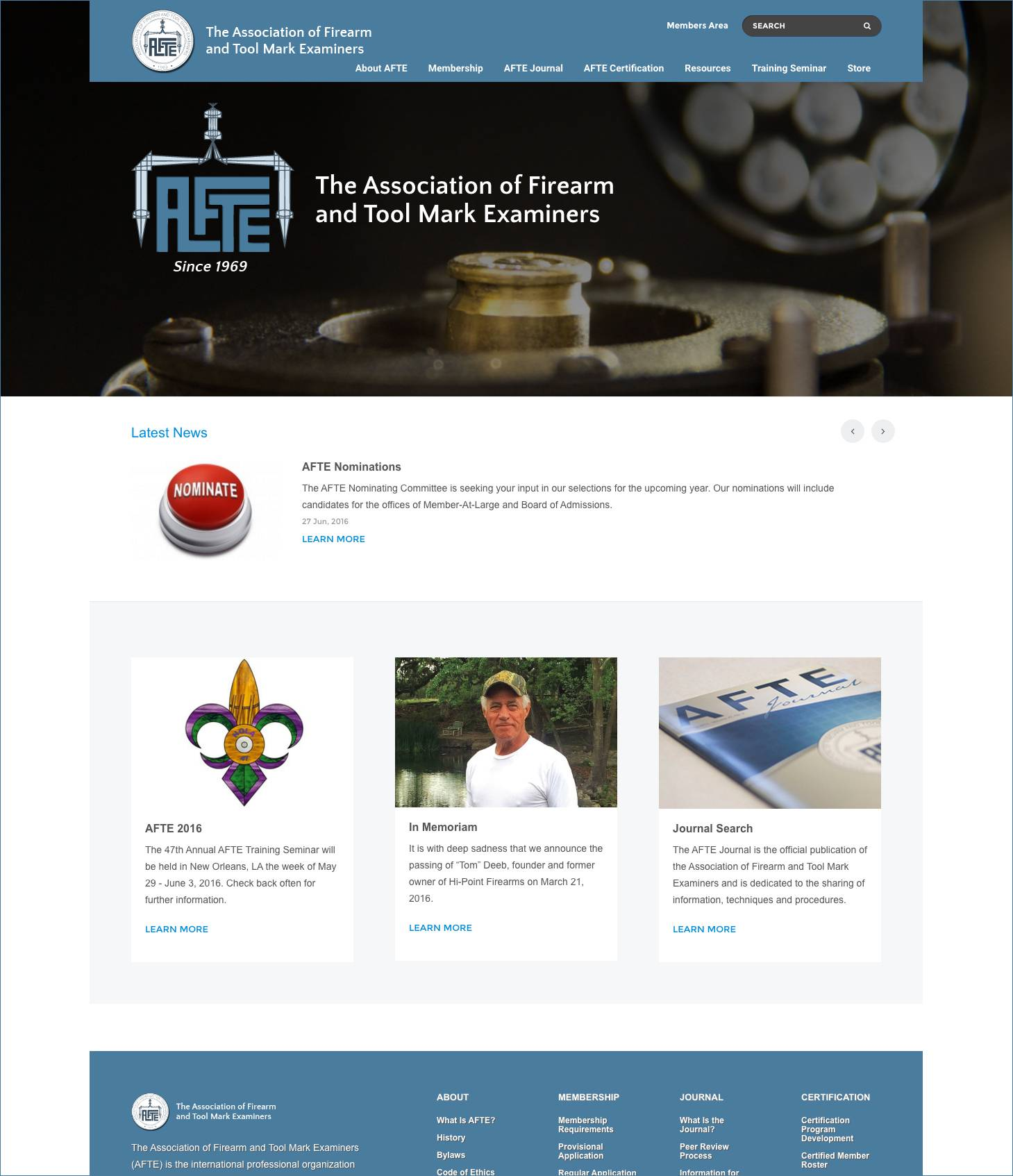 AFTE Association Home Page