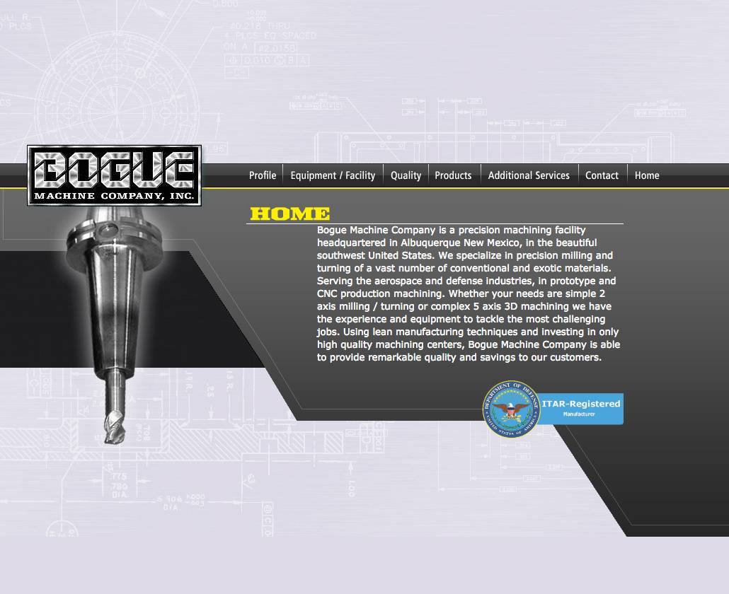Bogue Machine Animated Home page
