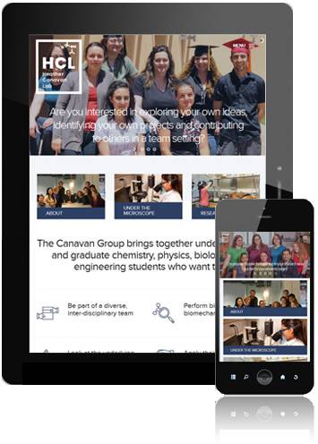 Canavan Labs - mobile responsive view