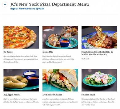 JC NYPD featured menu items