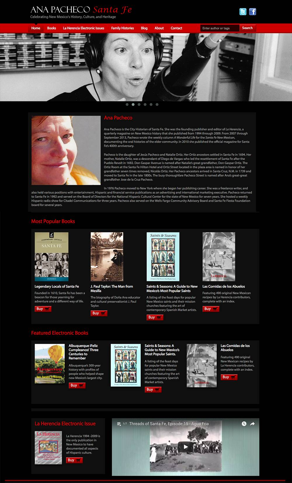 Home page for Ana Pacheco