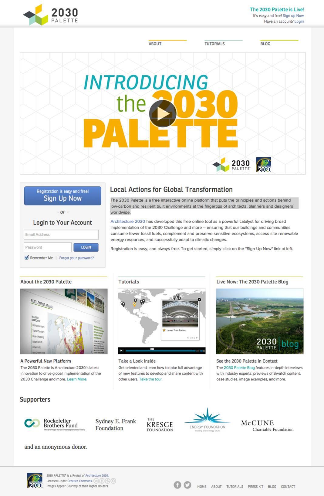 Architecture 2030 Palette Project