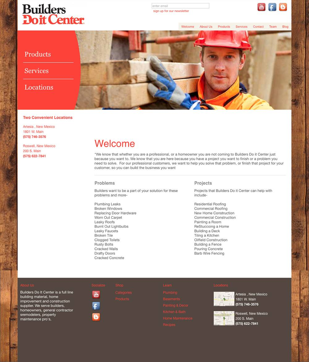 Home page of Roswell's Builders Do It Center