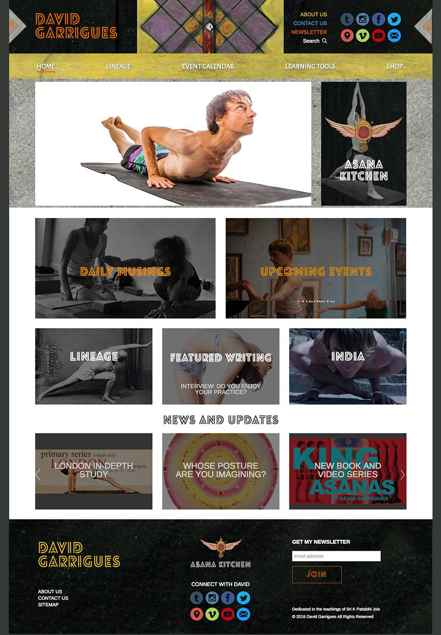 David Garrigues Yoga Home Page