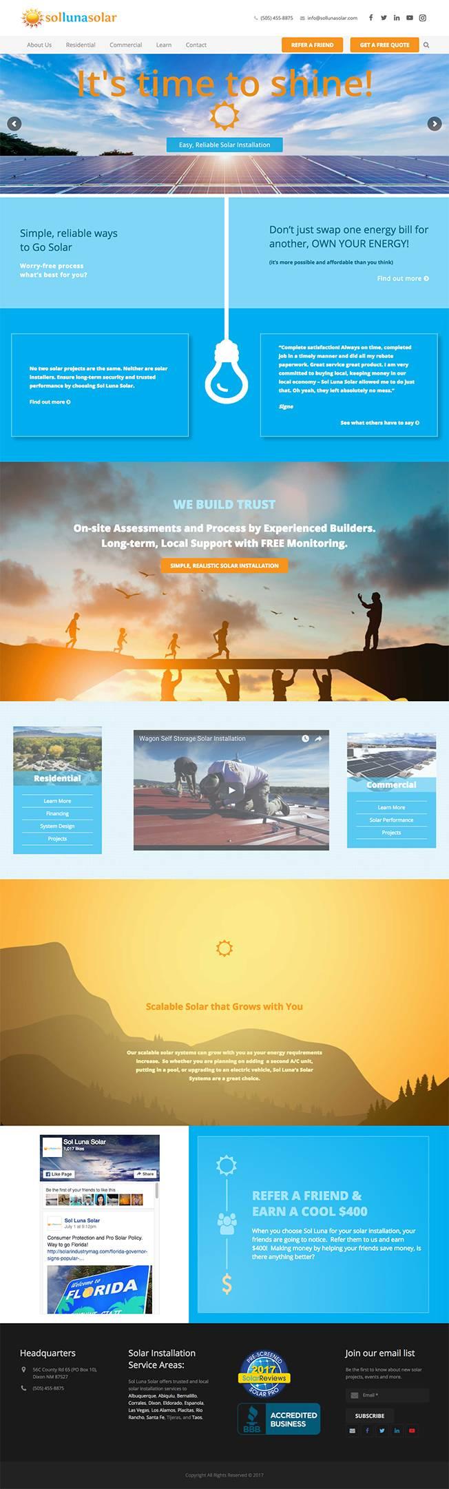 Full Sol Luna Solar Homepage