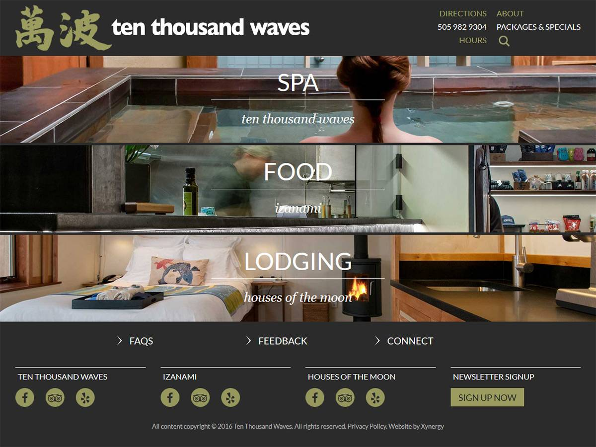 Ten Thousand Waves Home Page
